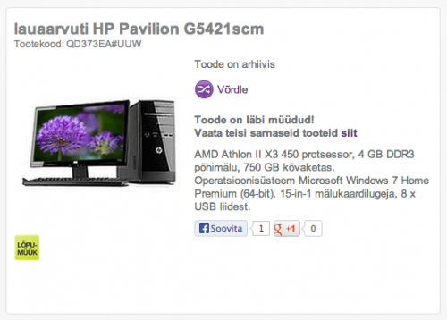 HP Pavilion G5421scm