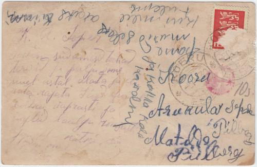Kiri Aruküla sepale 31 V 1930