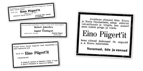 Kaastundeavaldused JT 30.09.1941