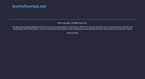 koerufoorum.net suletud