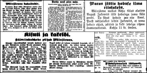 1929 a. Rõhu krimikroonika @Järva Teataja 1929