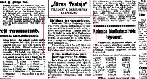 JT 29.11.1930, Üleliigne tee teedevõrgus 1930