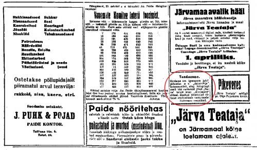 Järva Teataja (1926-1944), nr. 37, 29 märts 1934